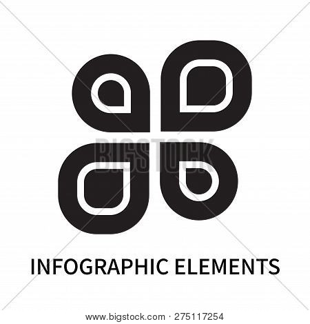 Infographic Elements Icon Isolated On White Background. Infographic Elements Icon Simple Sign. Infog