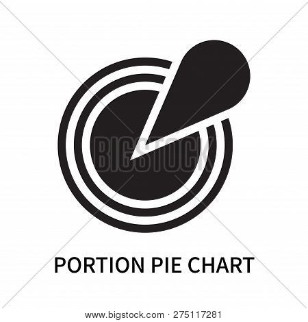Portion Pie Chart Icon Isolated On White Background. Portion Pie Chart Icon Simple Sign. Portion Pie