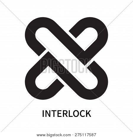 Interlock Icon Isolated On White Background. Interlock Icon Simple Sign. Interlock Icon Trendy And M