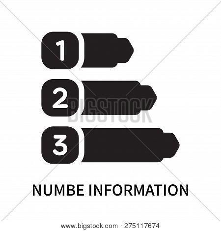 Numbe Information Icon Isolated On White Background. Numbe Information Icon Simple Sign. Numbe Infor