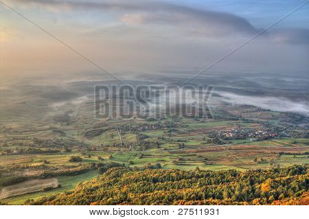 Morning Scenery - Fog In Valley