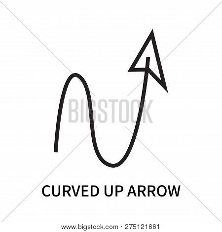 Curved Up Arrow Icon Isolated On White Background. Curved Up Arrow Icon Simple Sign. Curved Up Arrow