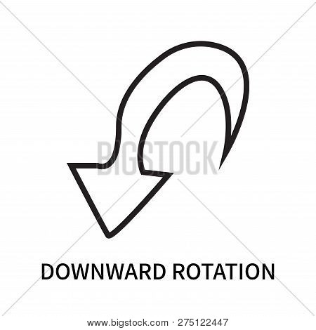 Downward Rotation Icon Isolated On White Background. Downward Rotation Icon Simple Sign. Downward Ro