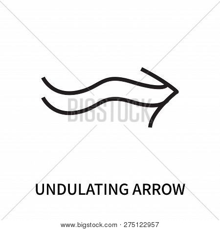 Undulating Arrow Icon Isolated On White Background. Undulating Arrow Icon Simple Sign. Undulating Ar