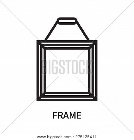 Frame Icon Isolated On White Background. Frame Icon Simple Sign. Frame Icon Trendy And Modern Symbol