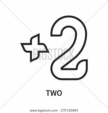 Two Icon Isolated On White Background. Two Icon Simple Sign. Two Icon Trendy And Modern Symbol For G