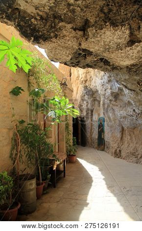 Interior Of Monastery Of The Temptation In Judean Desert