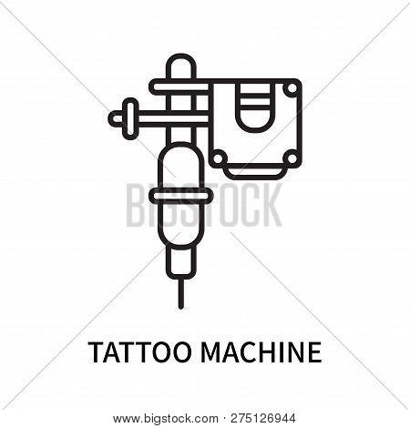 Tattoo Machine Icon Isolated On White Background. Tattoo Machine Icon Simple Sign. Tattoo Machine Ic