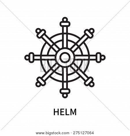Helm Icon Isolated On White Background. Helm Icon Simple Sign. Helm Icon Trendy And Modern Symbol Fo