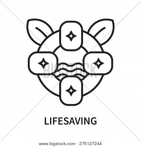 Lifesaving Icon Isolated On White Background. Lifesaving Icon Simple Sign. Lifesaving Icon Trendy An