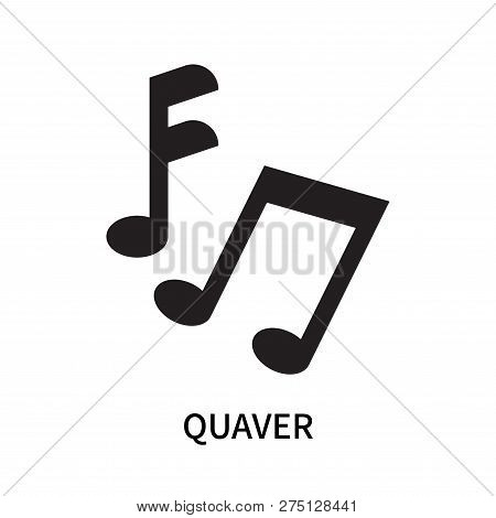 Quaver Icon Isolated On White Background. Quaver Icon Simple Sign. Quaver Icon Trendy And Modern Sym