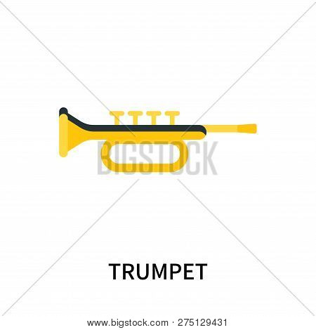 Trumpet Icon Isolated On White Background. Trumpet Icon Simple Sign. Trumpet Icon Trendy And Modern