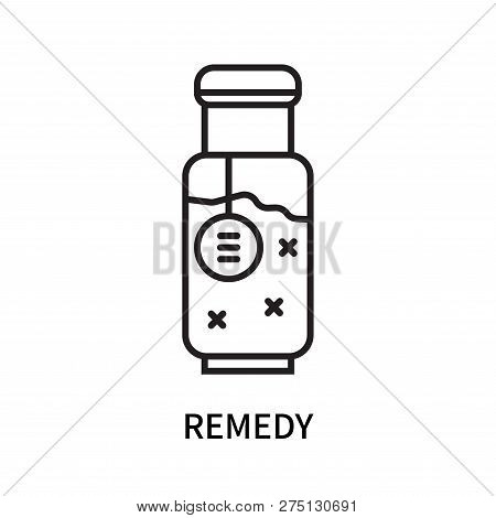 Remedy Icon Isolated On White Background. Remedy Icon Simple Sign. Remedy Icon Trendy And Modern Sym