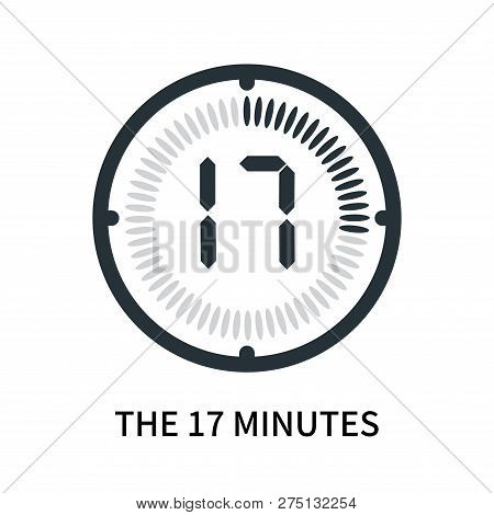 The 17 Minutes Icon Isolated On White Background. The 17 Minutes Icon Simple Sign. The 17 Minutes Ic