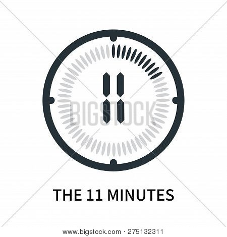 The 11 Minutes Icon Isolated On White Background. The 11 Minutes Icon Simple Sign. The 11 Minutes Ic