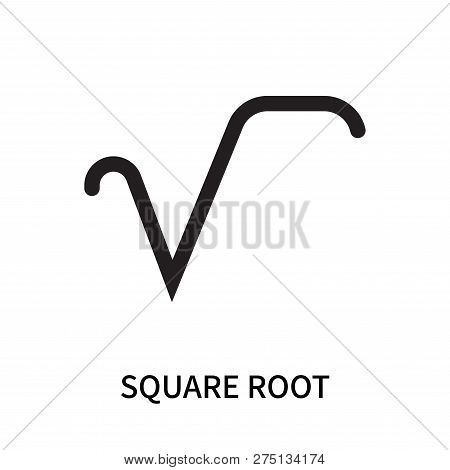 Square Root Icon Isolated On White Background. Square Root Icon Simple Sign. Square Root Icon Trendy