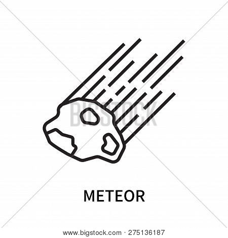 Meteor Icon Isolated On White Background. Meteor Icon Simple Sign. Meteor Icon Trendy And Modern Sym