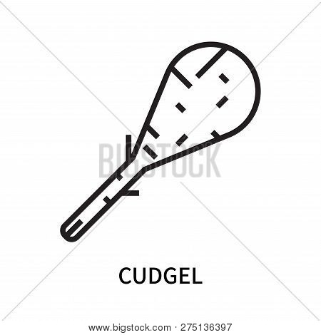 Cudgel Icon Isolated On White Background. Cudgel Icon Simple Sign. Cudgel Icon Trendy And Modern Sym