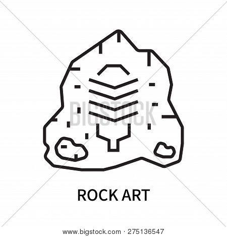 Rock Art Icon Isolated On White Background. Rock Art Icon Simple Sign. Rock Art Icon Trendy And Mode