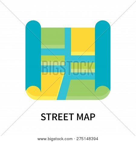 Street Map Icon Vector & Photo (Free Trial) | Bigstock