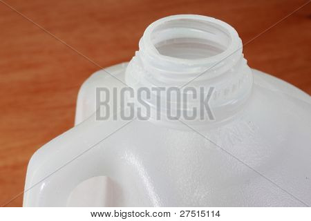 Milk jug to be recycled