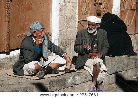 People In The Old Town Of Sanaa (yemen).