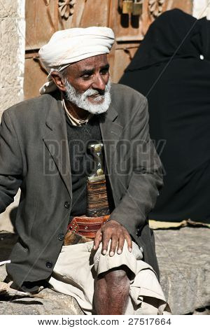 Man With Janbiya In The Old Town Of Sanaa (yemen).