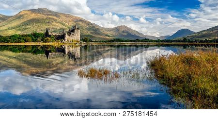 The Ruins Of Kilchurn Castle Are On Loch Awe, The Longest Fresh Water Loch In Scotland. It Can Be Ac