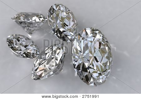 Five Loose Diamonds