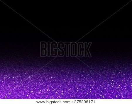 Bokeh Purple Glittering Light Shine On Black, Purple Sparkling Luxury Grand Bright For Background Co