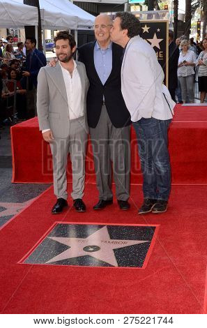 LOS ANGELES - AUG 8:  Joe Lewis, Jeffrey Tambor, Mitchell Hurwitz at the Jeffrey Tambor Star Ceremony on the Hollywood Walk of Fame on August 8, 2017 in Los Angeles, CA