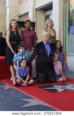 LOS ANGELES - AUG 8:  Jeffrey Tambor, Kasia Tambor, children Hugo, Eli, Gabriel, Eve, Molly at the Jeffrey Tambor Star Ceremony on the Hollywood Walk of Fame on August 8, 2017 in Los Angeles, CA