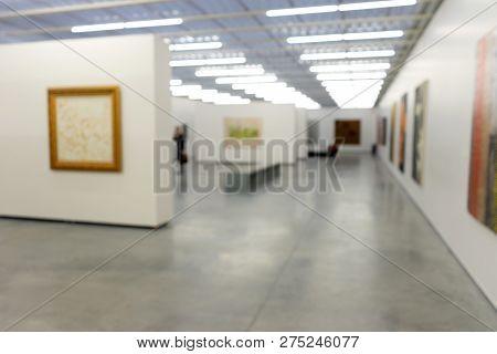 Blur White Museum Room Art Gallery