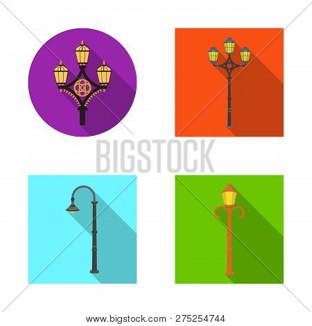 Vector Illustration Of Moon And Holiday Icon. Set Of Moon And Ramadan Stock Symbol For Web.