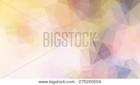 Vector Triangle Mosaic Background. Abstract Polygonal Background, Vector. Background Of Geometric Sh