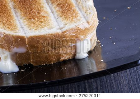Toast With Melting Cheese