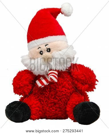 Soft toy Santa Claus on a transparent background, png poster