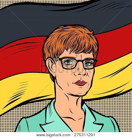 Berlin, Germany-december 23, 2018. Annegret Kramp-karrenbauer Leader Of The Christian Democratic Uni