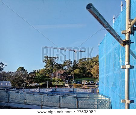 Gosford, New South Wales, Australia - October 23, 2018: Construction And Building Work On Gosford Ho