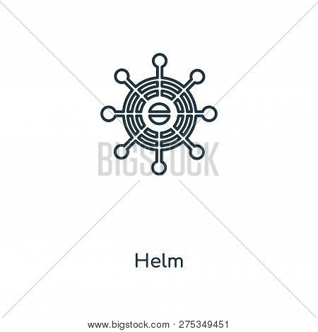 Helm Icon In Trendy Design Style. Helm Icon Isolated On White Background. Helm Vector Icon Simple An