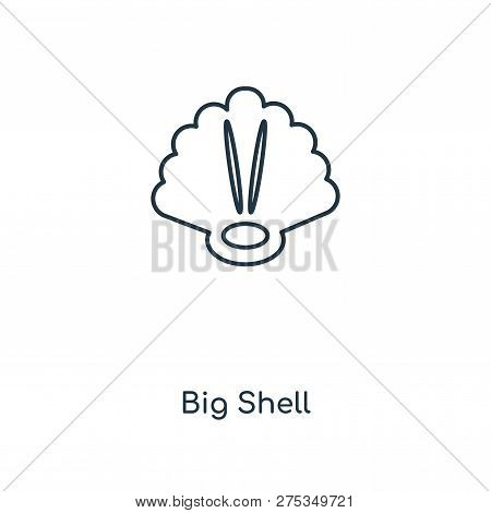 Big Shell Icon In Trendy Design Style. Big Shell Icon Isolated On White Background. Big Shell Vector