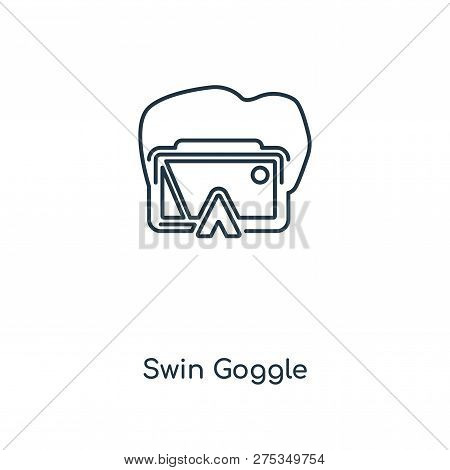 Swin Goggle Icon In Trendy Design Style. Swin Goggle Icon Isolated On White Background. Swin Goggle
