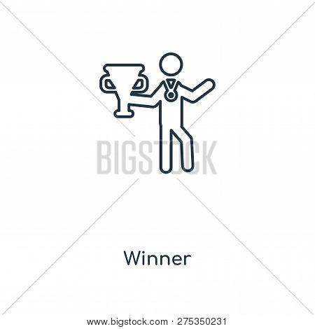 Winner Icon In Trendy Design Style. Winner Icon Isolated On White Background. Winner Vector Icon Sim
