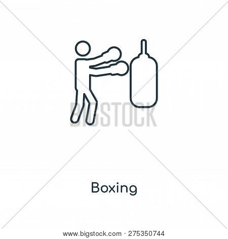 Boxing Icon In Trendy Design Style. Boxing Icon Isolated On White Background. Boxing Vector Icon Sim