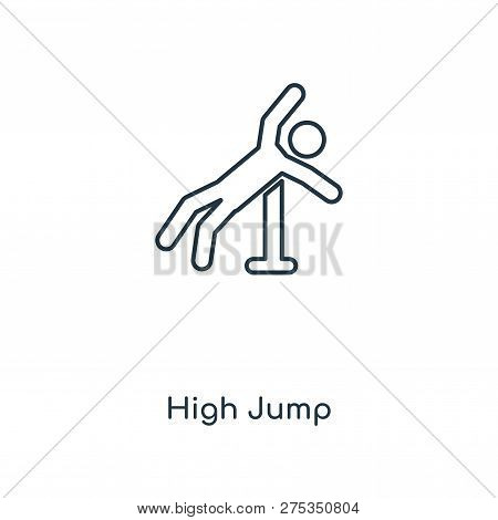 High Jump Icon In Trendy Design Style. High Jump Icon Isolated On White Background. High Jump Vector