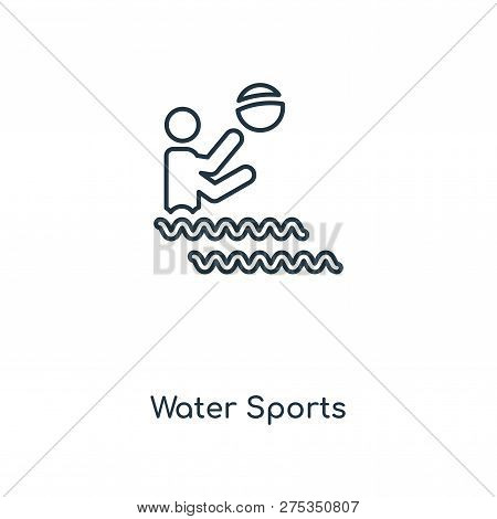 Water Sports Icon In Trendy Design Style. Water Sports Icon Isolated On White Background. Water Spor