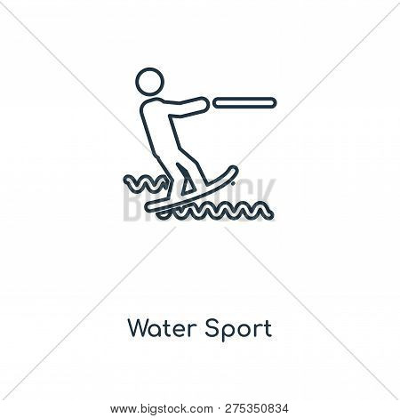 Water Sport Icon In Trendy Design Style. Water Sport Icon Isolated On White Background. Water Sport
