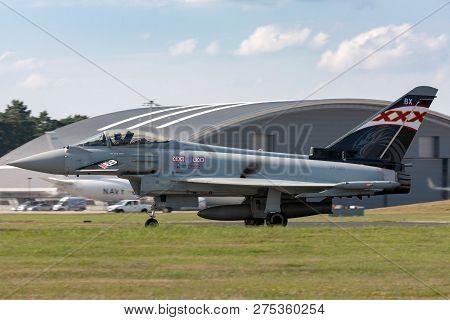Farnborough, Uk - July 20, 2014: Royal Air Force (raf) Eurofighter Ef-2000 Typhoon Fgr4 Zk343 From N