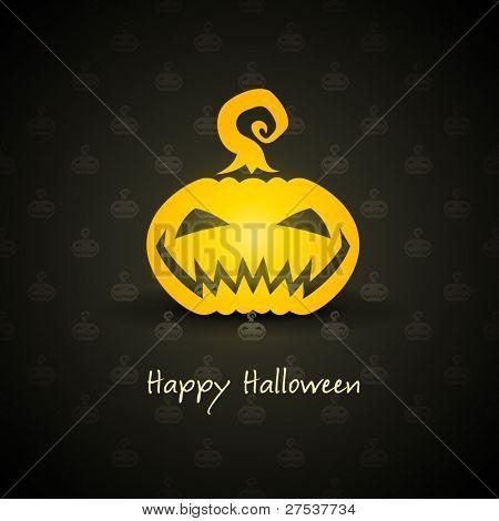 pumpkin for halloween on background vector illustration