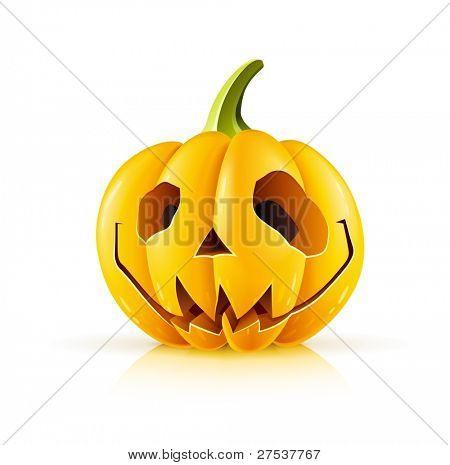pumpkin for halloween on white background vector illustration